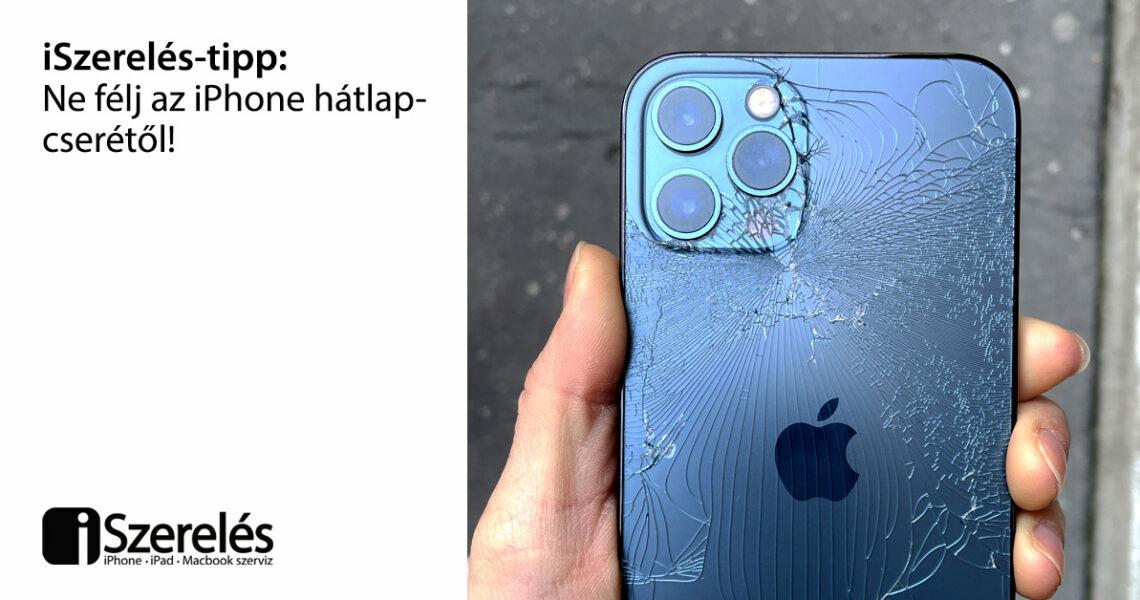 iPhone hátlap csere