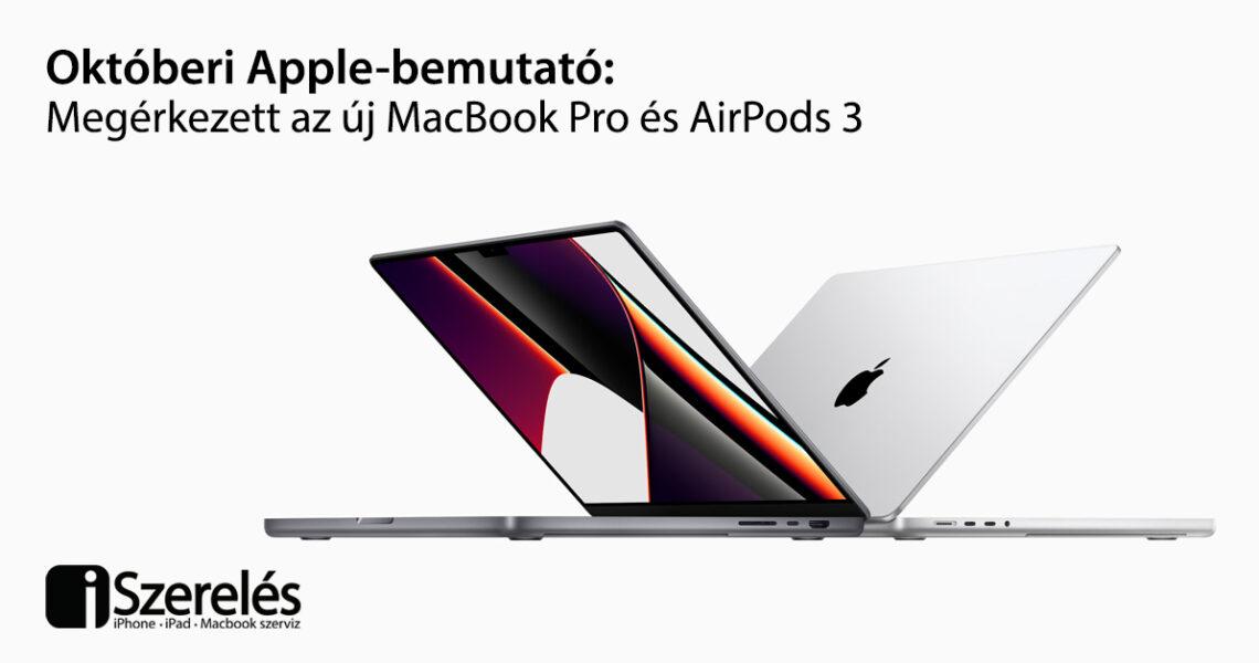 októberi apple bemutató