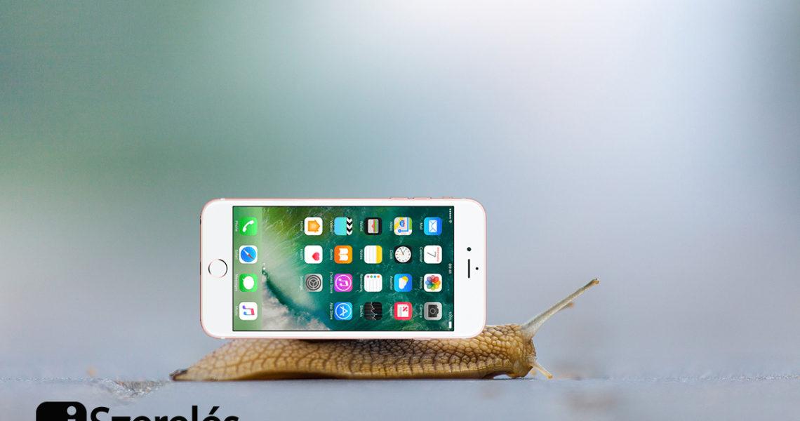 iphone gyorsítása