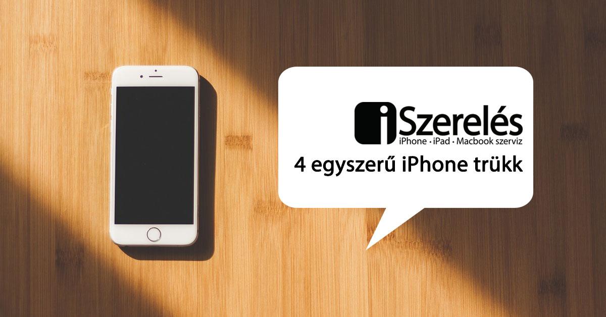 iPhone trükk