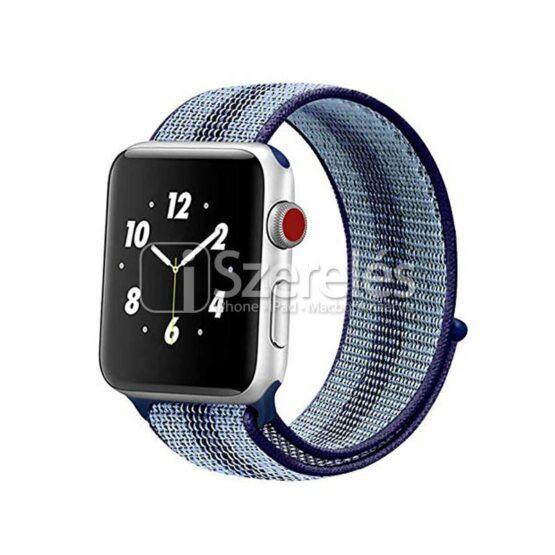 Apple Watch sportpánt sötétkék kék csíkos 42/44 mm