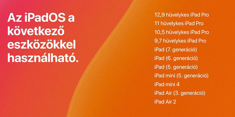 iOS 13 támogatott készülékek