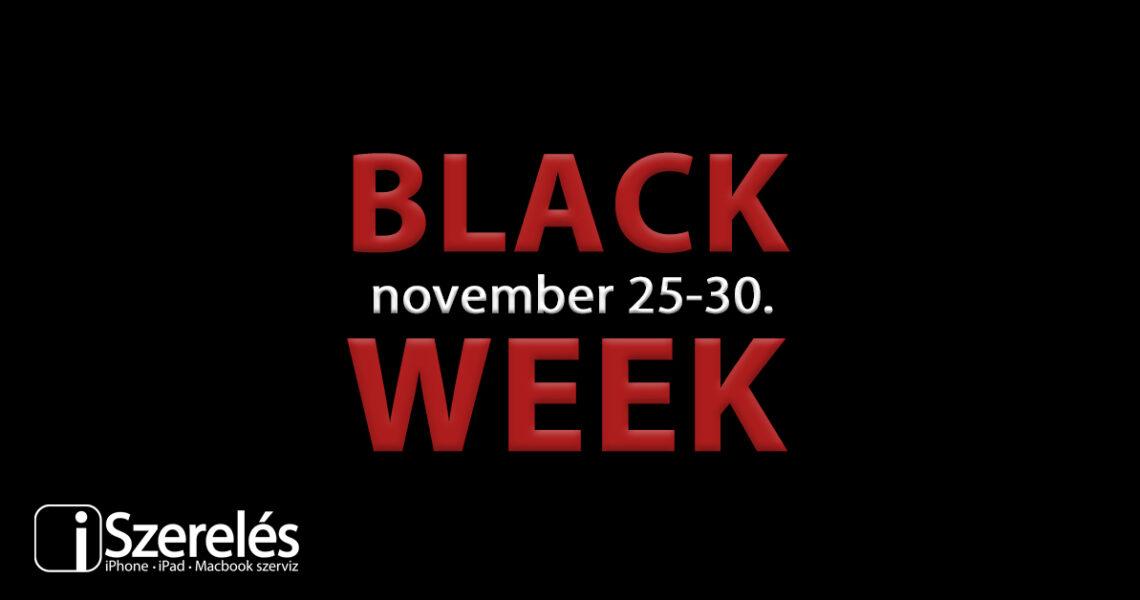 Black Week az iSzerelésnél