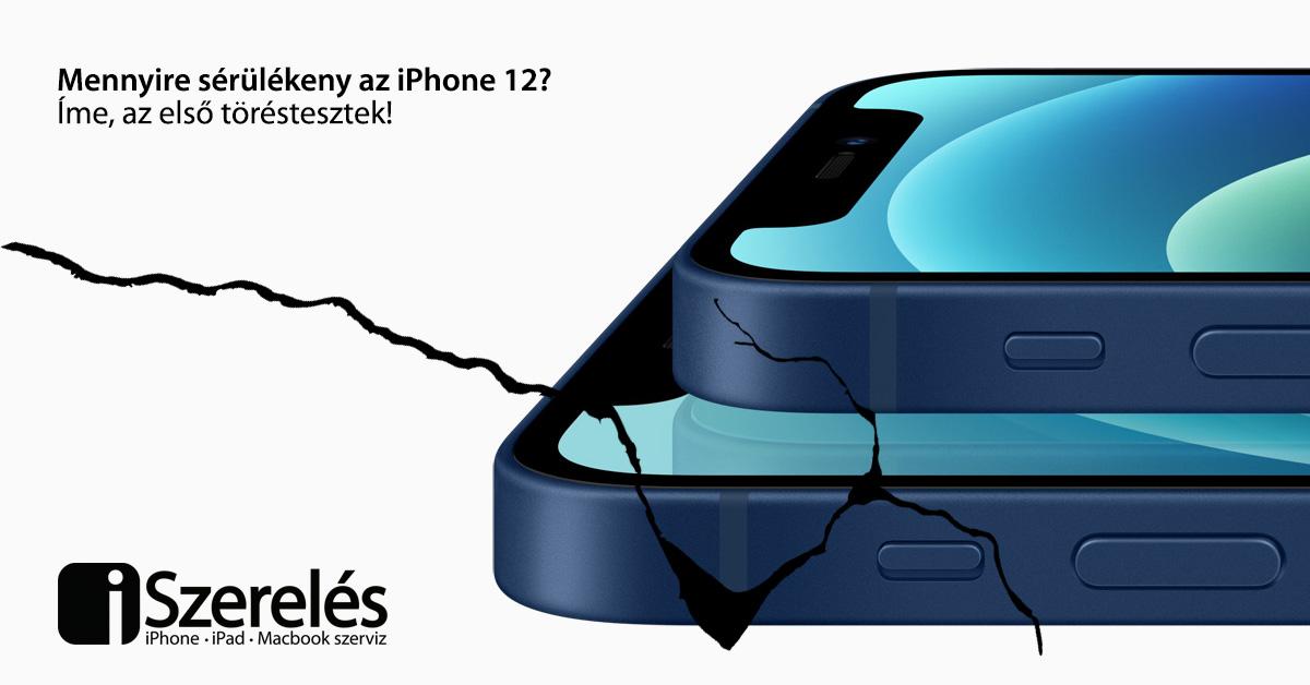 iPhone 12 törésteszt