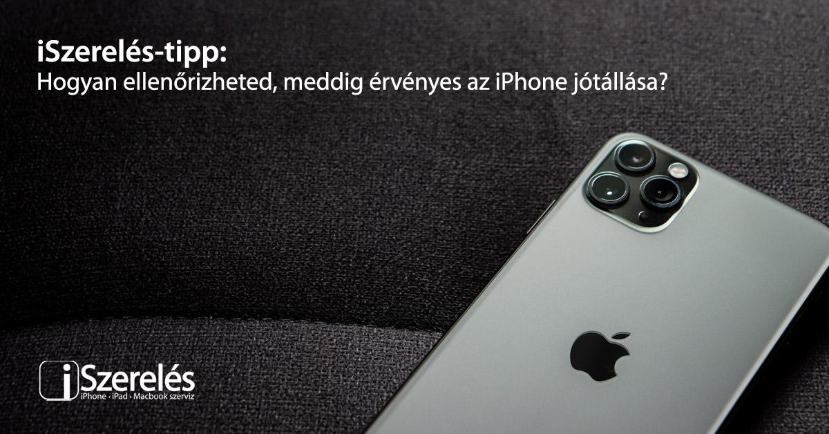 iPhone jótállása